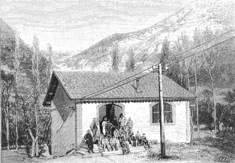 L'usine d'électricité de La Motte-Chalencon